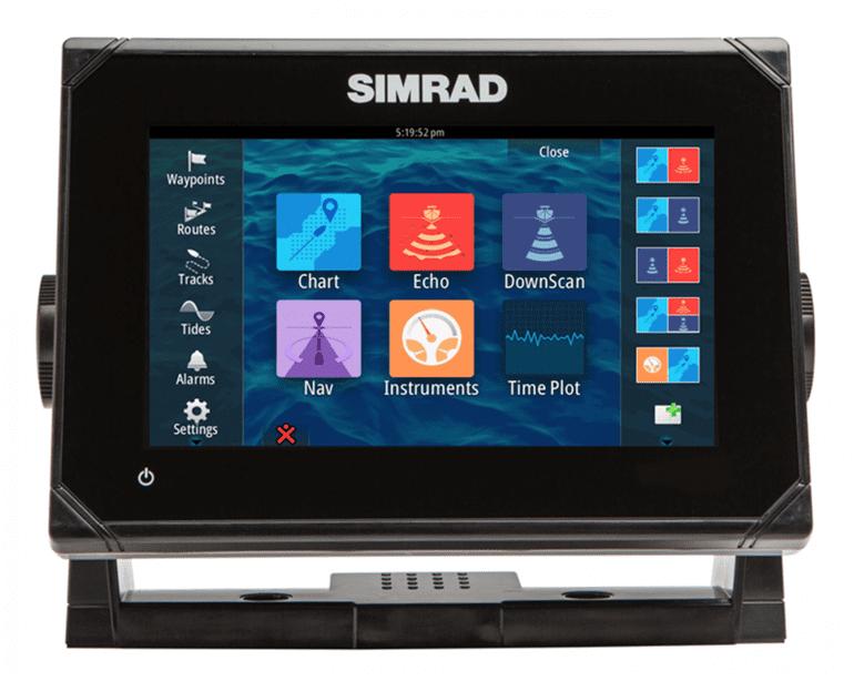Simrad GO 7 charplotter