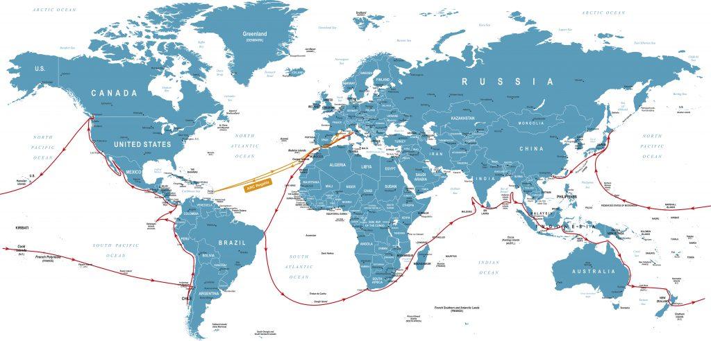 Mappa mondo navigazione