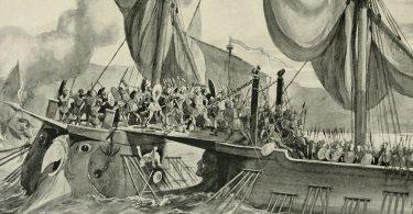 Scontro in mare tra le flotte romana e cartaginese