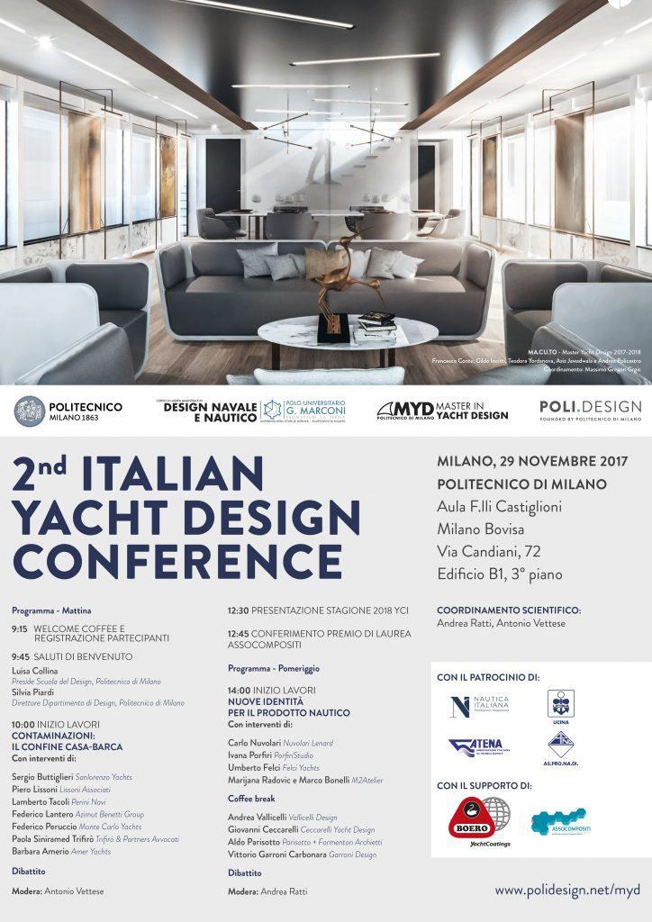 Italian yacht design conference al politecnico di milano for Yacht design milano