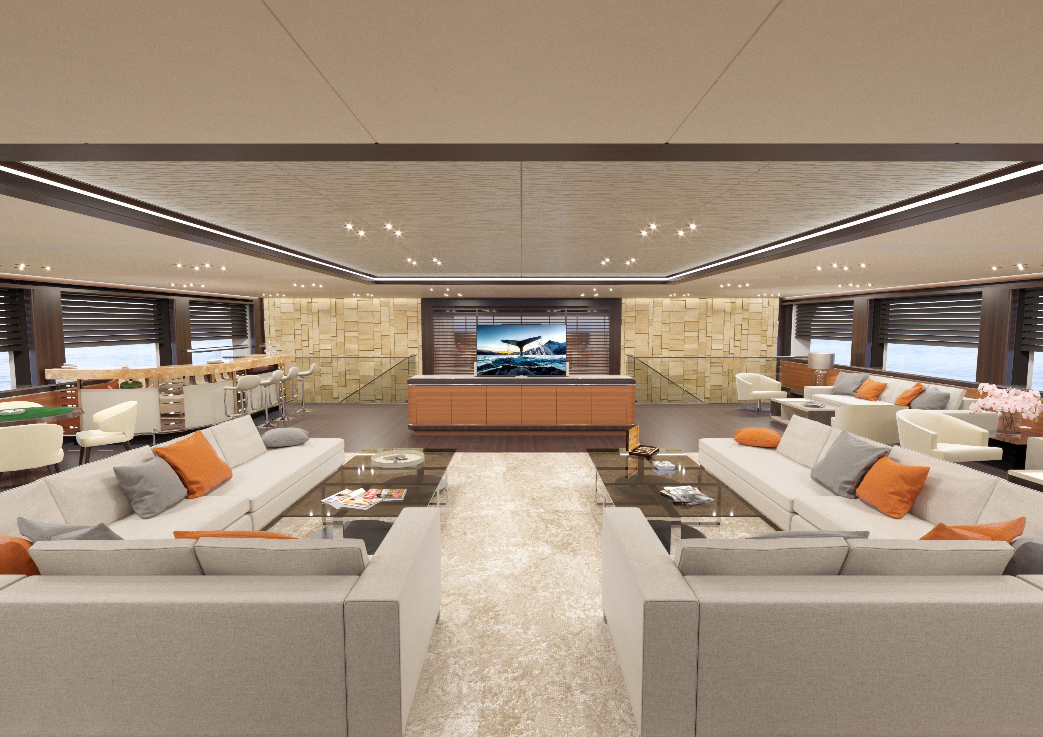 Rosetti superyachts svela i dettagli del suo 85m for Grandi pavimenti del garage