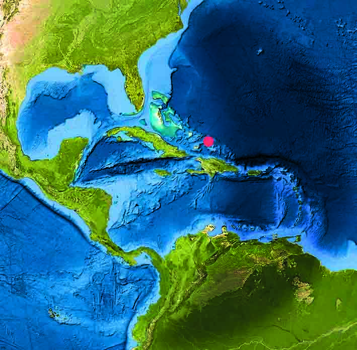 Mappa Turks e Caicos Bahamas
