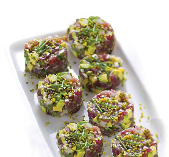 tartare tonno avocado e pistacchio