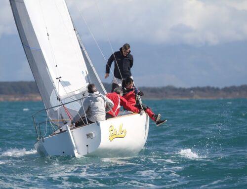 Il J24 Pelle Nera di Paolo Cecamore al comando del Campionato Invernale di Anzio e Nettuno