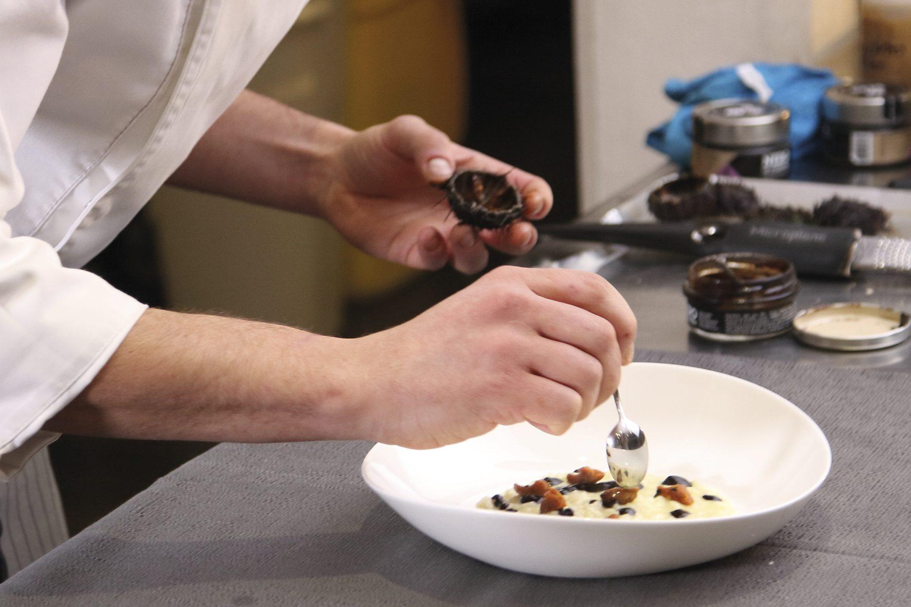 risotto aglio nero