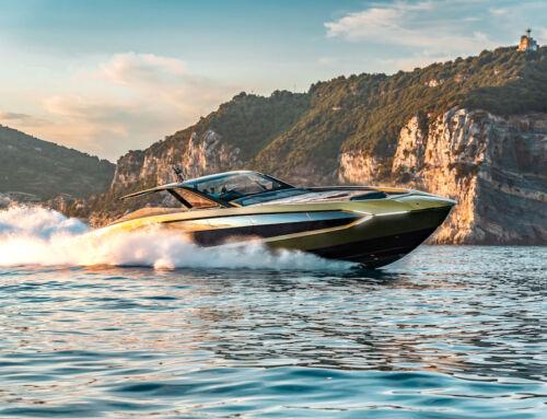 Il modello del M/Y Tecnomar for Lamborghini 63 dal 4 al 10 settembre alla Milano Design Week