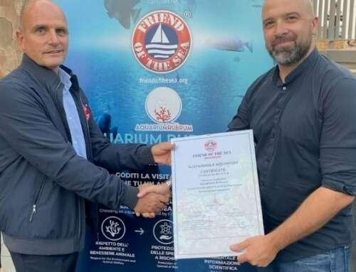 Aquarium Rubrum di Alghero primo in Italia certificato Friend of the Sea per l'impegno nella conservazione dell'ambiente marino